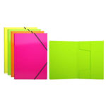 MAPA PLASTIC A4 ELASTIC COLOR NEON ASS ERICH KRAUSE 43052