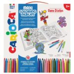 SET CREATIV CARIOCA MAXI COLORING ALBUM GAME STATION 42840