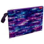 MAPA TEXTIL ZIPPER ErichKrause® Purple Print A4